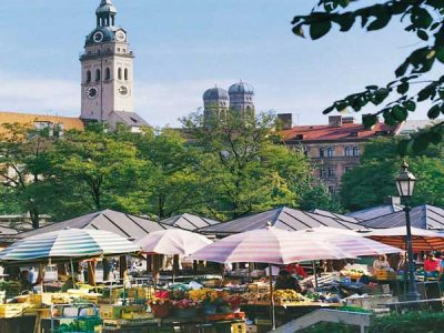 Viktualienmarkt mercado de Múnich